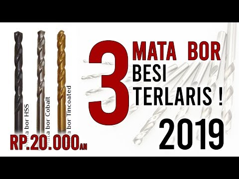 3 Mata Bor Besi & Stainless (HSS) Terlaris 2019, NACHI vs DORMER vs TOHO